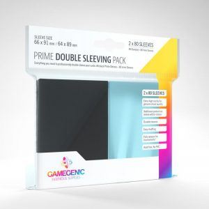 Gamegenic   SALE! Gamegenic Prime Double Sleeving Pack- Black (80 pack) - GGS10074ML - 4251715408339
