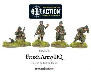 Warlord Games Bolt Action  France (BA) French Army HQ - WGB-FI-34 - 5060393701477