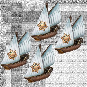 Mantic Kings of War Armada  Basileans Basilean Sloop Squadrons - MGARB302 - 5060469667430