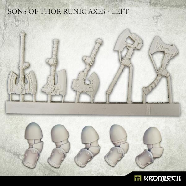 Kromlech   Legionary Conversion Parts Sons of Thor Runic Axes - Left - KRCB284 -