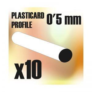Green Stuff World   Plasticard ABS Plasticard - Profile ROD 0'5mm - 8436554366705ES - 8436554366705