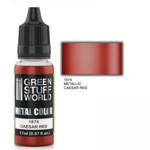 Green Stuff World   Acrylic Metallics Metallic Paint CAESAR RED - 8436574502336ES - 8436574502336