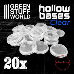 Green Stuff World   Plain Bases Hollow Plastic Bases - TRANSPARENT - 8435646504117ES - 8435646504117