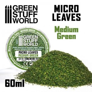 Green Stuff World   Lichen & Foliage Micro Leaves - Medium green Mix - 8435646501079ES - 8435646501079
