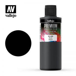 Vallejo   Model Air Primers AV Vallejo Premium Color - 200ml - Opaque Dark - VAL63020 - 8429551630207