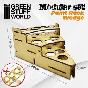 Green Stuff World   Paint Racks Modular Paint Rack - WEDGE - 8436574503470ES - 8436574503470