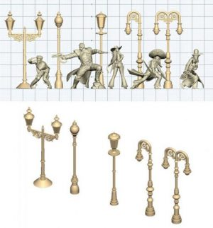 Wyrd   Malifaux Accessories Street Lamps - WYR09001 - 813856016589