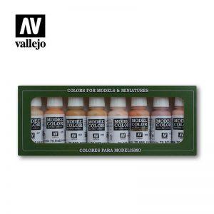Vallejo   Paint Sets Vallejo Model Color - Face & Skin Tones - VAL70124 - 8429551701242