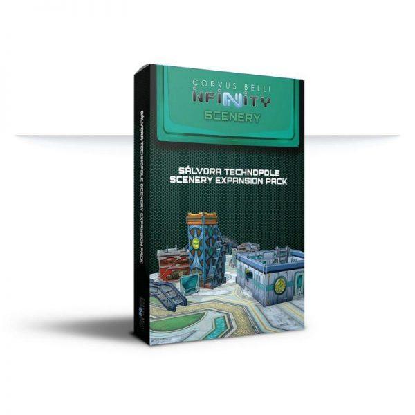 Corvus Belli Infinity  Infinity Essentials Sálvora Technopole Scenery Expansion Pack - 285068 - 2850680000009