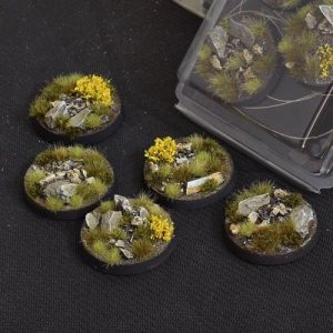 Gamers Grass   Battle-ready Highland Bases Highland Round 40mm (x5) - GGB-HLR40 -