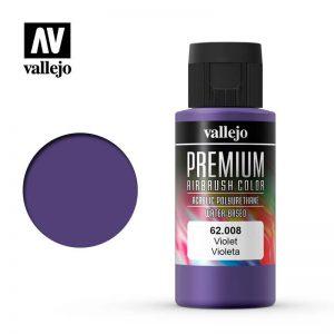 Vallejo   Premium Airbrush Colour AV Vallejo Premium Color - 60ml - Violet - VAL62008 - 8429551620086