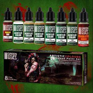 Green Stuff World   Acrylic Paints Paint Set - Undead - 8436574506204ES - 8436574506204