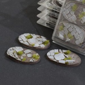 Gamers Grass   Battle-ready Temple Bases Temple Bases Oval 75mm (x3) - GGB-TO75 -
