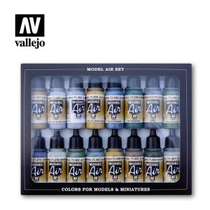 Vallejo   Paint Sets Vallejo Model Air Set - WWII British Aircraft Colors RAF/FAA (x16) - VAL71189 - 8429551711890