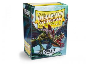 Dragon Shield   Dragon Shield Dragon Shield Matte Sleeves Green (100) - DS100MGR - 5706569110048