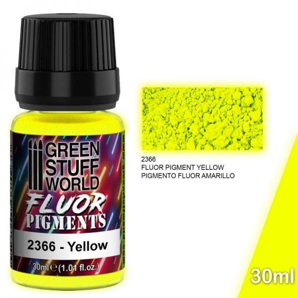 Green Stuff World   Fluorescent Pigments Pigment FLUOR YELLOW - 8436574507256ES - 8436574507256