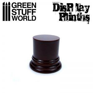Green Stuff World   Display Plinths Round Display Plinth 4.5 cm - Hazelnut Brown - 8436574501605ES - 8436574501605