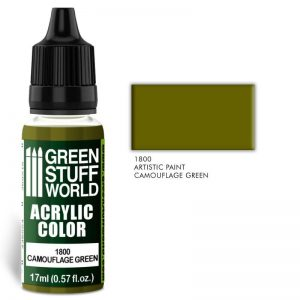 Green Stuff World   Acrylic Paints Acrylic Color CAMOUFLAGE GREEN - 8436574501599ES - 8436574501599