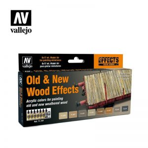 Vallejo   Paint Sets Vallejo Model Air Set - Old & New Wood Effects - VAL71187 - 8429551711876
