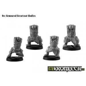 Kromlech   Orc Conversion Parts Orc Greatcoats Armoured Bodies - KRCB111 - 5902216112278