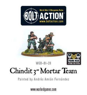 Warlord Games Bolt Action  Great Britain (BA) Chindit 3'' Mortar Team - WGB-BI-28 -