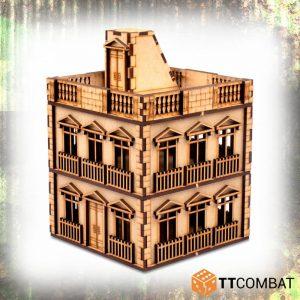 TTCombat   World War Scenics 25mm City Rowhouse Terrace - TTSCW-WAR-052 -
