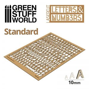 Green Stuff World   Modelling Extras Letters and Numbers 10mm STANDARD - 8435646501345ES - 8435646501345