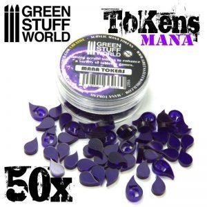 Green Stuff World   Status & Wound Markers Mana Tokens - 8436554369669ES - 8436554369669