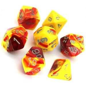 Gamescraft   Toxic Toxic Ooze Dice Yellow/Red RPG Set - GC78101 - GC78101
