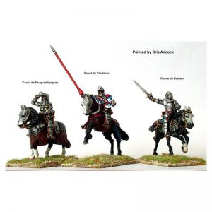 Perry Miniatures   Perry Miniatures French Mounted Command at Agincourt - AO15 -