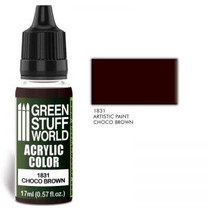 Green Stuff World   Acrylic Paints Acrylic Color CHOCO BROWN - 8436574501902ES - 8436574501902