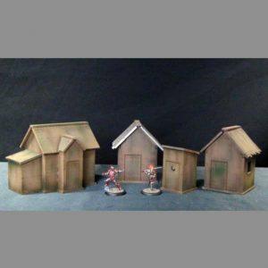 TTCombat   Wild West Scenics (28-32mm) Shacks & Outhouse - WWS010 - WWS010