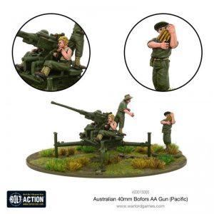 Warlord Games Bolt Action  Australia (BA) Australian 40mm Bofors AA Gun - 403015005 - 5060572500686