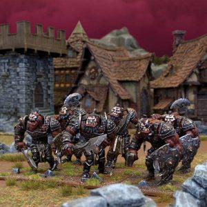 Mantic Kings of War  Ogres Ogre Warrior Horde - MGKWH11-1 - 5060208864861