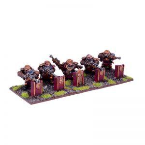 Mantic Kings of War  Dwarf Armies Dwarf Sharpshooter Troop - MGKWD101 - 5060208868364