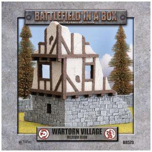 Gale Force Nine   Battlefield in a Box Wartorn Village - Medium Ruin - BB573 - 9420020229532