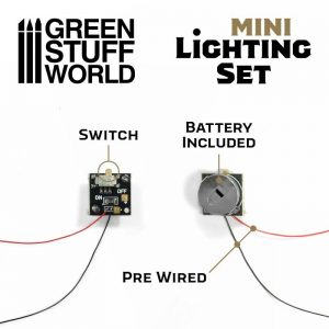 Green Stuff World   Lighting & LEDs Mini lighting Set With switch and CR927 Battery - 8435646502076ES - 8435646502076