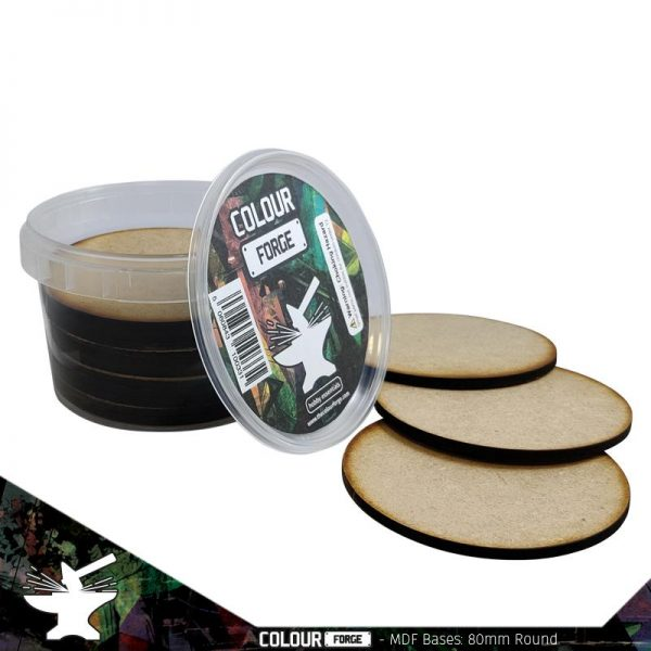 The Colour Forge   MDF Bases MDF Bases - 80mm Round (15) - TCF-MDF-80R - 5060843100416