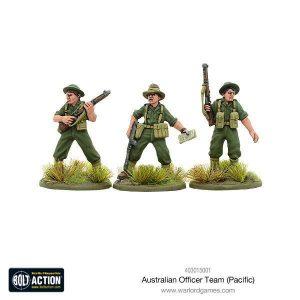 Warlord Games Bolt Action  Australia (BA) Australian Officer Team (Pacific) - 403015001 - 5060393707462