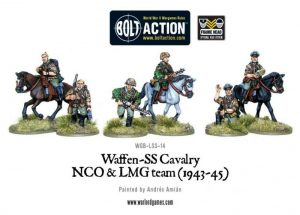 Warlord Games Bolt Action  Germany (BA) Waffen-SS Cavalry NCO & LMG Team - WGB-LSS-14 - 5060393701538