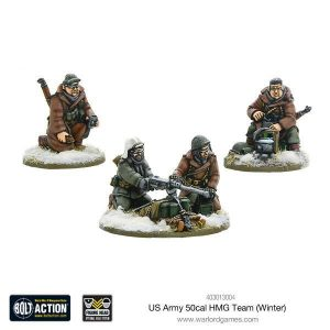Warlord Games Bolt Action  United States of America (BA) US Army 50cal HMG Team (Winter) - 403013004 - 5060393704584