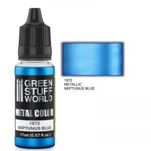 Green Stuff World   Acrylic Metallics Metallic Paint NEPTUNUS BLUE - 8436574502312ES - 8436574502312