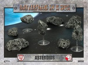 Gale Force Nine   Battlefield in a Box Galactic Warzones: Asteroids - BB558 - 9420020223530