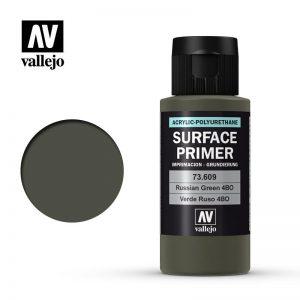 Vallejo   Model Air Primers AV Polyurethane - Primer Russian Green 4BO 60ml - VAL73609 - 8429551736091