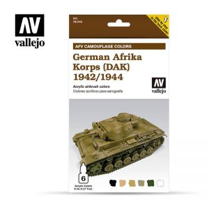 Vallejo   Model Air AV Armour Set - AFV German Afrika Korps 1942/44 (DaK) - VAL78410 - 8429551784108