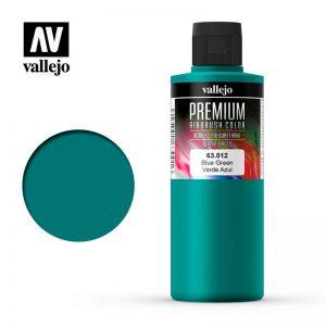Vallejo   Premium Airbrush Colour AV Vallejo Premium Color - 200ml - Opaque Blue Green - VAL63012 - 8429551630122