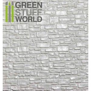 Green Stuff World   Plasticard ABS Plasticard - SMOOTH ROCK WALL Textured Sheet - A4 - 8436554361083ES - 8436554361083