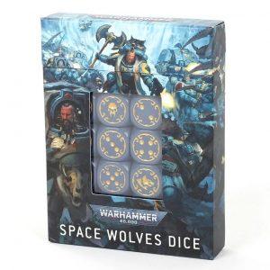Games Workshop Warhammer 40,000  D6 Space Wolves Dice Set - 99220101022 - 5011921141630