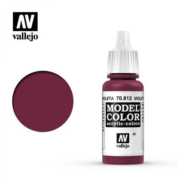 Vallejo   Model Colour Model Color: Violet Red - VAL812 - 8429551708128