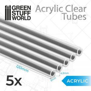 Green Stuff World   Acrylic Rods Acrylic Clear Tubes 5mm - 8435646504643ES -